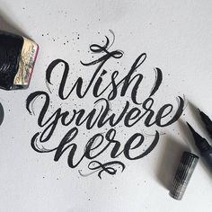 How I wish you were #here (c) Nice reminissence from Pink Floyd by @anchorsupply #handmadefont