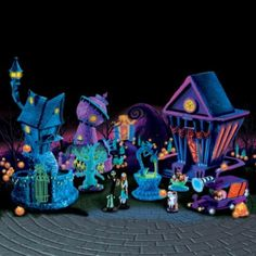 Tim Burtons Nightmare Before Christmas Black Light Village Collection  Ebony, i thought of you as soon as i saw this!!