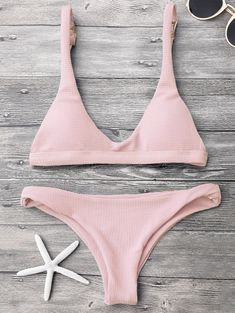 39edac5ef81 [HOT] 2019 Low Waisted Padded Scoop Bikini Set In PINK S | ZAFUL Bikini