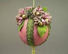 Ornamento di Natale di Lori Bilodeau palla di stoffa fatti a