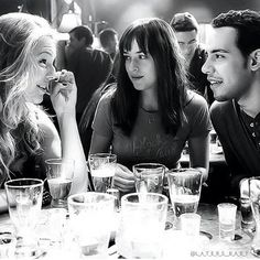BTS of Eloise (Kate), Dakota (Ana), and Victor (Jose´) on the set of Fifty Shades of Grey.