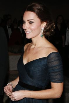 Catherine, Duchess of Cambridge attends the St. Andrews 600th Anniversary Dinner at Metropolitan Museum of Art on December 9, 2014 in New York City.