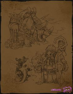 ArtStation - Some Sketches In 2014, Yare Yue