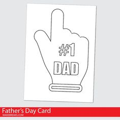 Free Printable Father's Day Card To Color - Make Breaks Father's Day Printable, Free Printable Cards, Printable Letters, Free Printable Coloring Pages, Free Printables, Party Printables, Easy Mother's Day Crafts, Mothers Day Crafts, Easy Coloring Pages