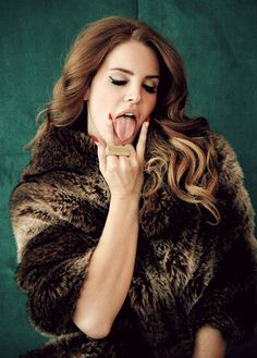 Hot red racer nails on Lana Del Rey | Crazy, Sexy Stiletto Nails