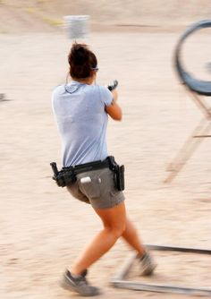 Michelle Viscusi Real Women, Fit Women, Glock Girl, Beautiful Athletes, Shooting Gear, Shield Maiden, Sexy Legs, Beauty Women
