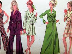 Vintage McCall's 9677 Sewing Pattern, 1960s Robe Pattern, 1960s Jumpsuit Pattern, Bust 36, Loungewear, 1960s Sewing Pattern, Front Wrap Robe by sewbettyanddot on Etsy