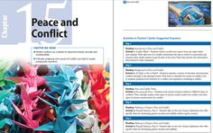 "Lessons in ""Chapter 15: Peace and Conflict"" teach students that (1) violent conflicts are a barrier to improved human security and sustainability and (2) critically analyzing root causes of conflict can help to create sustainable solutions."