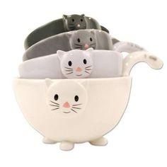 Cat Kitten Measuring Cups / Bowls for Baking