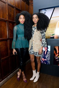 Cool girls with big hair - Haute Bohemians Party in Upper East Side Fashion Wear, Star Fashion, Womens Fashion, Quann Sisters, Natural Afro Hairstyles, Natural Hair, Cipriana Quann, Bohemian Party, Brown Skin Girls
