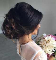 Get Inspired for your wedding day! Voluminous updo chignon #hairstyle by ulyana.aster #bridal #hair