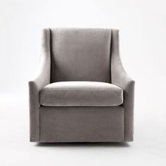 Sweep Swivel Armchair   west elm For Client and it moves!!! or swivel!