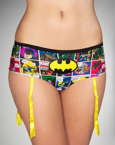 Batman Comic Boyshorts with Garters