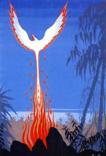 this one I remember too from my childhood. made such an impression to me. Art Nouveau Illustration, Children's Book Illustration, Pheonix Rising, John Bauer, Phoenix Art, Fire Element, Nature Spirits, Classical Art, Black And White Pictures