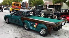 Slam on the breaks! 100mph billiard mobile gives car-pooling a ...