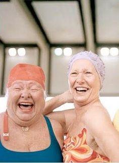 Cuando nos bañamos nos reímos.