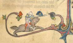 Extreme Jousting (from Brunetto Latini's Li Livres dou Tresor, France (Picardy), c. 1315-1325, Yates Thompson MS 19, f. 65r
