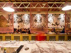 Charming Australian restaurant aesthetics for the night—Chi Chi Sydney (dining room color)
