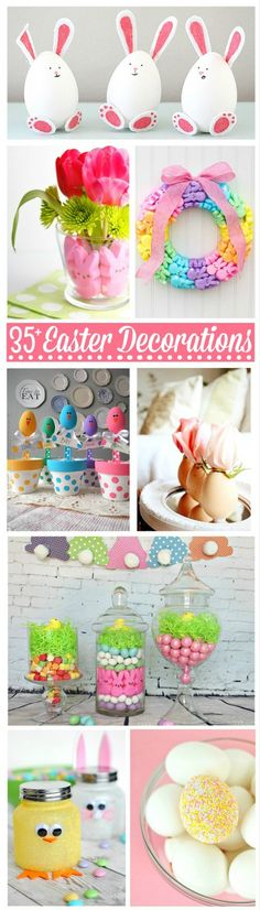 Check out these 35+ Gorgeous Easter Decorations to help you get inspired to get your home Easter ready in style! Great DIY Easter Decor ideas!