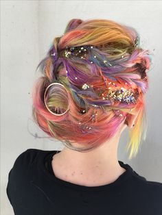 Joico and Pulp Riot #colormelt #rainbowhair #colorful