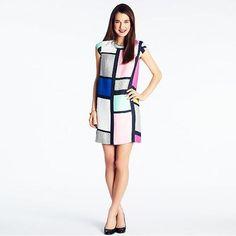 Kate Spade | Claudette Dress In Mondrian