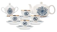 Harry Potter Blue and Gold New Bone China Tea Set Additional Image