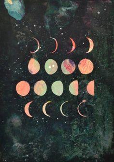 Moon and Stars Illustration Moon Fases, Tumblr Soft, Plakat Design, Art And Illustration, Art Design, Graphic Design, Art Plastique, Stars And Moon, Trippy