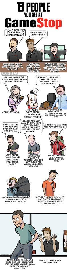 13 People You See At #GameStop