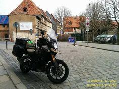 Lunch in Quedlinburg. Prachtig stadje Unesco. #Moto73 #motorfiets #motorbike #motorrijden #tw #fbp #fb