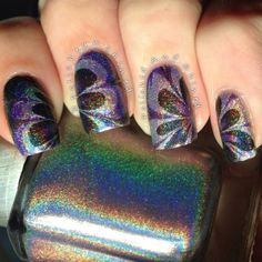 Water marble with holo polishes!