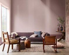 Conexão Décor Sala de estar pintada com a cor de 2018 eleita pela Coral Tintas, Adorno Rupestre. http://conexaodecor.com/2017/11/as-cores-de-2018-tintas-coral-eucatex-suvinil/