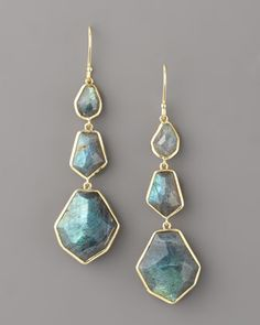 Three-Drop Earrings, Labradorite by Ippolita at Bergdorf Goodman.