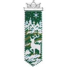 Herrschners® Winter Deer Silhouette Beaded Banner Kit