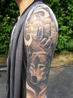 100 Wolf Tattoo Designs Ideas For Men & Women 2018 3d Wolf Tattoo, Wolf Tattoos Men, Wolf Tattoo Design, Tribal Tattoo Designs, Mom Tattoos, Native Tattoos, Animal Tattoos, Geometric Sleeve Tattoo, Tribal Sleeve Tattoos