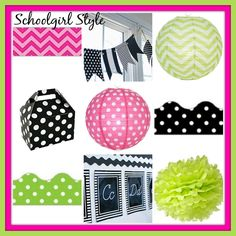 Lime Green Hot Pink Clroom Decor Themes By School Style I Heart Inspiration Boards