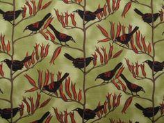 Fabric Godmother - Saddleback Bird Print Cotton - Green, £14.00 (http://www.fabricgodmother.co.uk/saddleback-bird-print-cotton-green/)