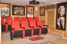 Theatre Room! I like the posters on the walls and maybe the seats