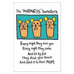 The Madness Hamsters - Edward Monkton - Fridge Magnet | eBay