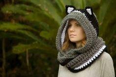 Crocheteuse&Tricoteuse: CAGOULE AVEC OREILLES                                                                                                                                                                                 Plus
