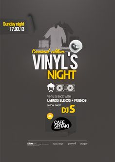 VinYl's NIGHT! Poster Design