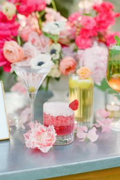 Pink Drinks, Food Displays, Signature Cocktail, Wedding Catering, Refreshing Drinks, Party Drinks, Event Decor, Party Planning, Destination Wedding