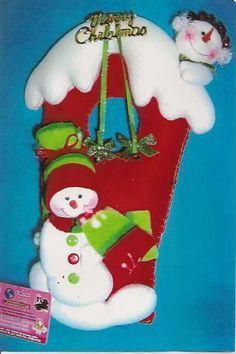 Patrones y Moldes para el Picaporte para Navidad en Fieltro GRATIS!!   EcoArtesanias.com