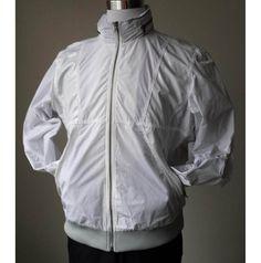 #ebay Calvin Klein Men Size L White Windbreaker Collar Hoodie Bomber jacket CalvinKlein withing our EBAY store at  http://stores.ebay.com/esquirestore