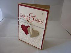 Hochzeitskarte, Mr and Mrs. von Creasu auf DaWanda.com