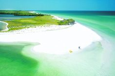 Caladesi Island, Dunedin, Florida, near Tampa. This secluded beach has beautiful crystal white sands. Along with honeymoon island causeway - My hometown beaches! Places In Florida, Florida Vacation, Florida Travel, Vacation Places, Florida Beaches, Dream Vacations, Vacation Spots, Travel Usa, Places To Travel