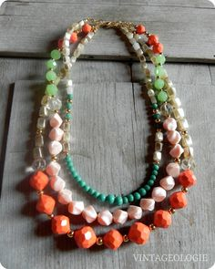 Vintageologie Necklace No2 $49.50 Anthro inspired jewelry/accessories