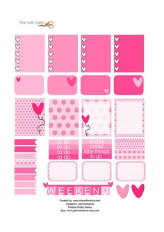 Free Printable Valentine Planner Stickers from Plan with Samia