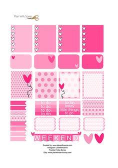 Valentine Sticker Set - Freebie Friday