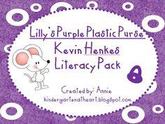 Kindergarten At Heart: Lilly's Purple Plastic Purse Literacy Packet