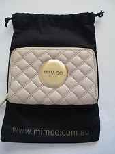 Mimco beige colour genuine leather wallet RRP $129- NEW